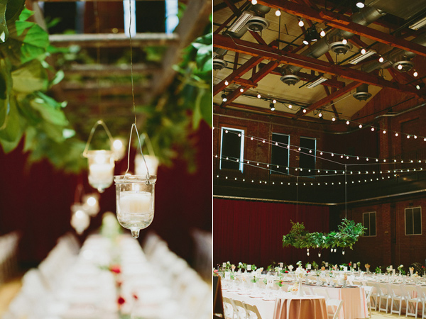 wedding reception lighting - photo by Caitlin Thomas Photography http://ruffledblog.com/a-green-pittsburgh-opera-wedding