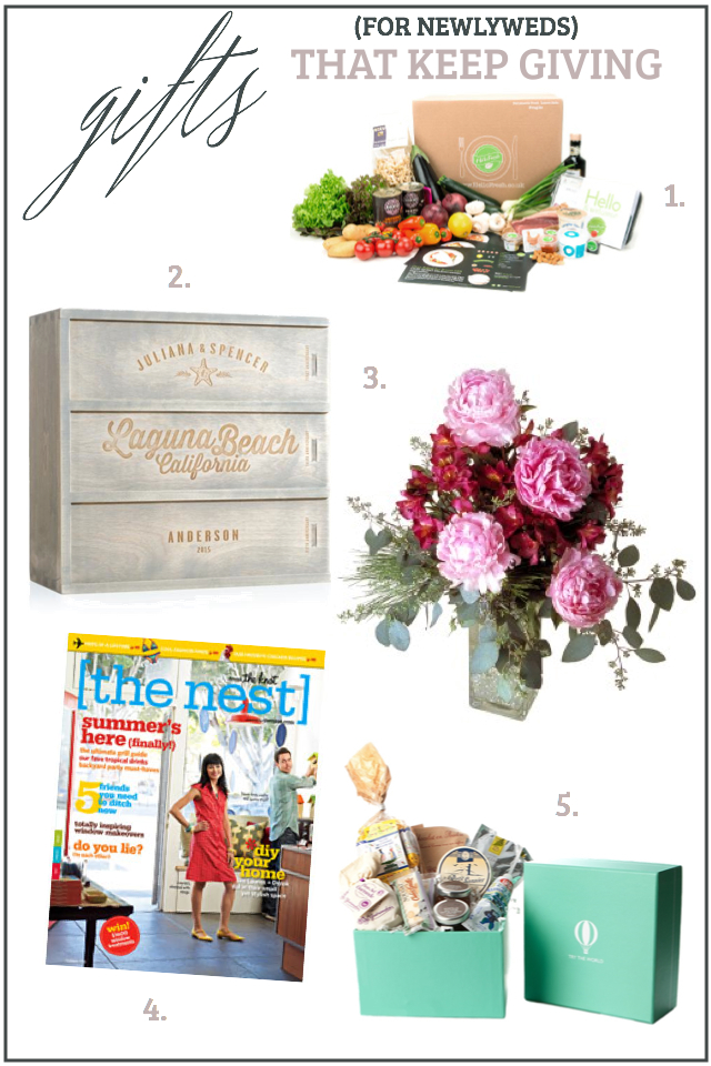 Wedding Gifts that Keep Giving - Ideas for gifts for newlyweds