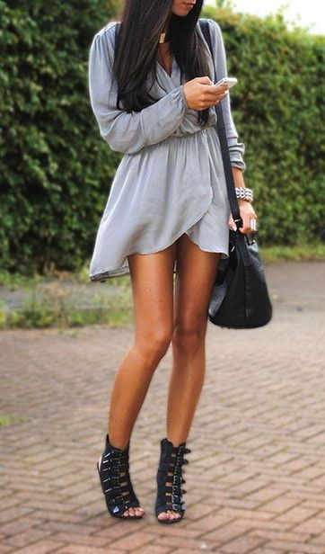 outfits with gladiator heels 14