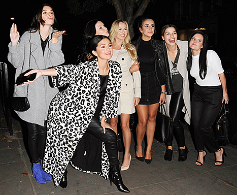 Selena Gomez celebrated her 23rd birthday in London with friends