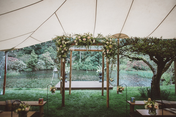 ceremony setup - photo by A Fist Full of Bolts http://ruffledblog.com/vintage-glam-wedding-at-bella-luna-farms