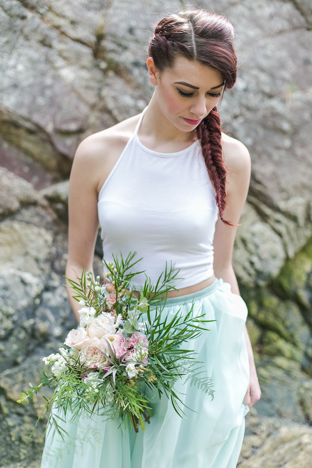 Wedding dress separates | John Bello | see more on: http://burnettsboards.com/2015/07/disneys-mermaid-wedding/