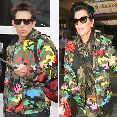 Derek Zoolander (Ben Stiller) wore the same Valentino jacket as Kris Jenner.