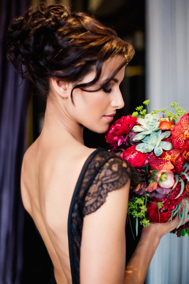 Black backless wedding dress ⎪ Tony Gigov Photography ⎪ see more on: http://burnettsboards.com/2015/07/sultry-marsala-black-wedding/