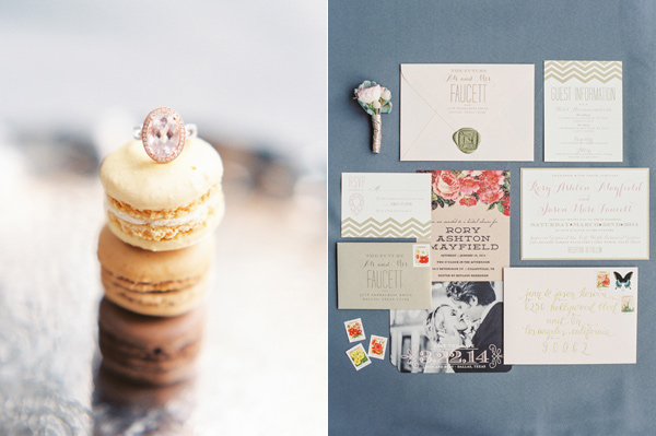 wedding invitations - photo by Taylor Lord http://ruffledblog.com/spring-wedding-with-an-illusion-lace-gown