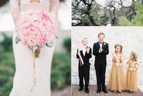 flower girls and ring bearers - photo by Taylor Lord http://ruffledblog.com/spring-wedding-with-an-illusion-lace-gown