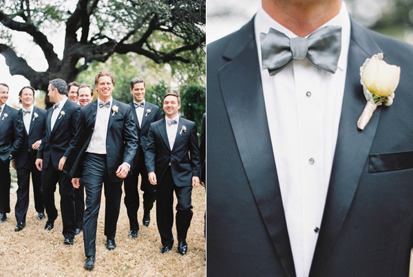 groom and groomsmen - photo by Taylor Lord http://ruffledblog.com/spring-wedding-with-an-illusion-lace-gown