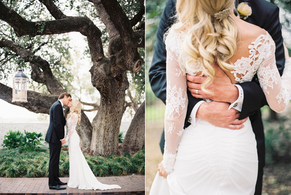wedding portraits - photo by Taylor Lord http://ruffledblog.com/spring-wedding-with-an-illusion-lace-gown