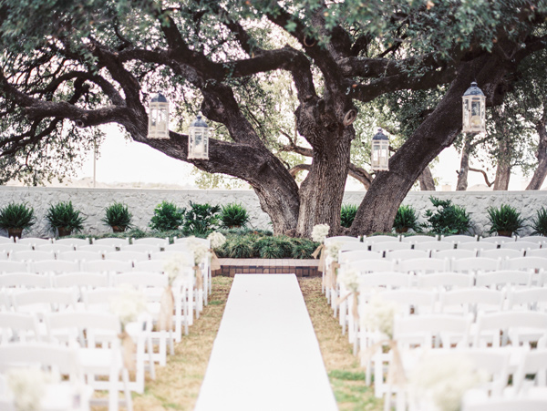 wedding ceremony setup - photo by Taylor Lord http://ruffledblog.com/spring-wedding-with-an-illusion-lace-gown