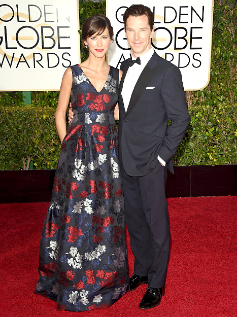 Sophie Hunter and Benedict Cumberbatch attend the 72nd Annual Golden Globe Awards at The Beverly Hilton Hotel on January 11, 2015 in Beverly Hills, California.