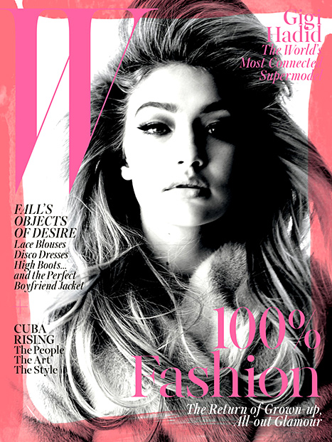 Budding supermodel Gigi Hadid works her bombshell appeal on W's September issue.