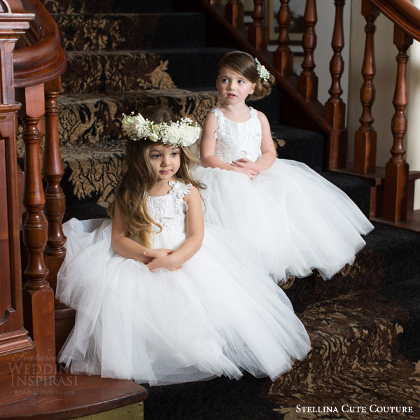 stellina cute couture 2015 2016 adorable designer baby toddler flower girls dresses bridal attendants