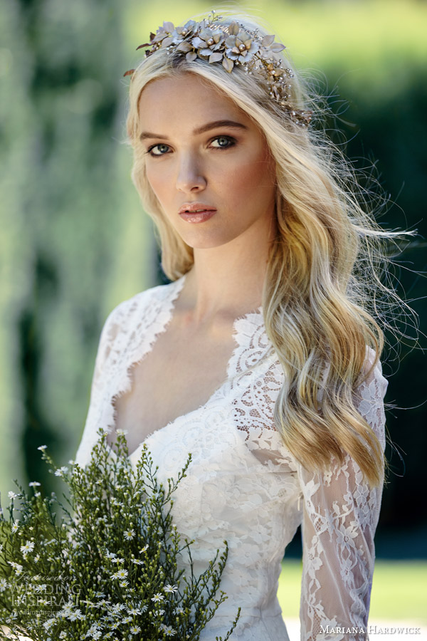mariana hardwick bride 2015 villa parma ivy long sleeve lace gown peplum close up ashley lace bodice