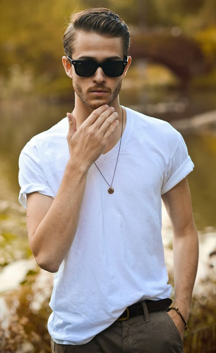 men white shirt outfit ideas11