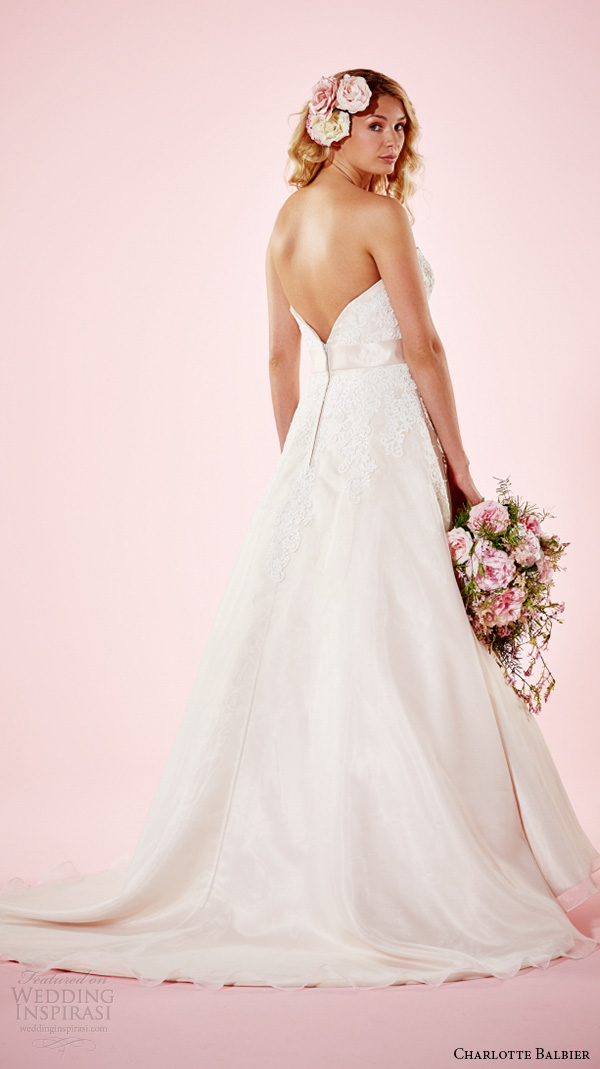 charlotte balbier 2016 bridal dresses strapless sweetheart neckline lace bodice beautiful a line wedding gown heather back