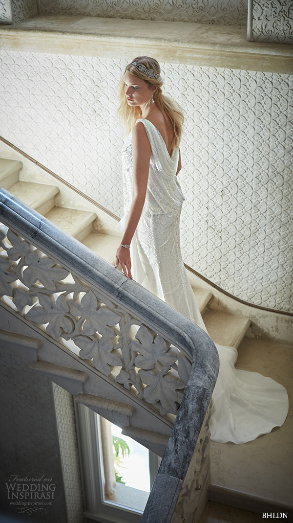 bhldn fall 2015 wedding dresses sleeveless boat bateau neckline blouson vintage art deco wedding dress arabella