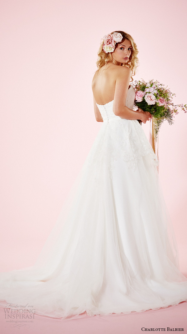 charlotte balbier 2016 bridal dresses strapless sweetheart neckline pretty a line wedding gown melissa back