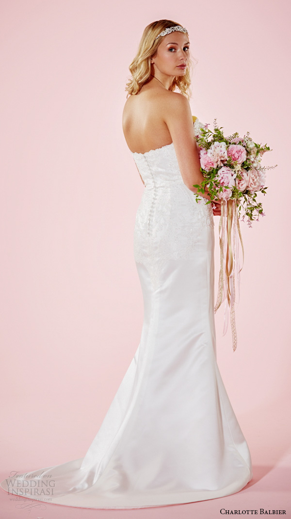 charlotte balbier 2016 bridal dresses strapless sweetheart neckline embroidered bodice sheath wedding gown estelle ivory back