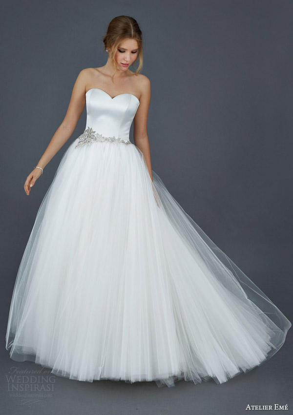 atelier aimee 2016 hilary strapless sweetheart tulle ball gown wedding dress