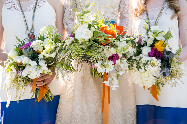 bridesmaid bouquets - photo by Ilene Squires Photography http://ruffledblog.com/literary-love-inspired-wedding-shoot