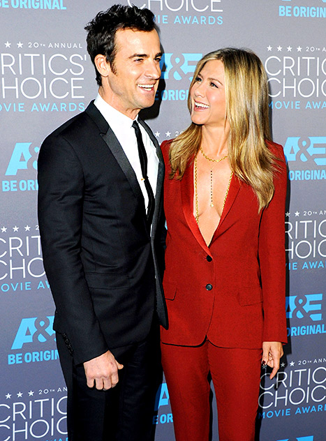Theroux and Aniston at the 20th Annual Critics' Choice Awards