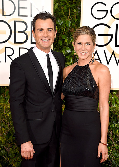 Theroux and Aniston at the 72nd Annual Golden Globe Awards
