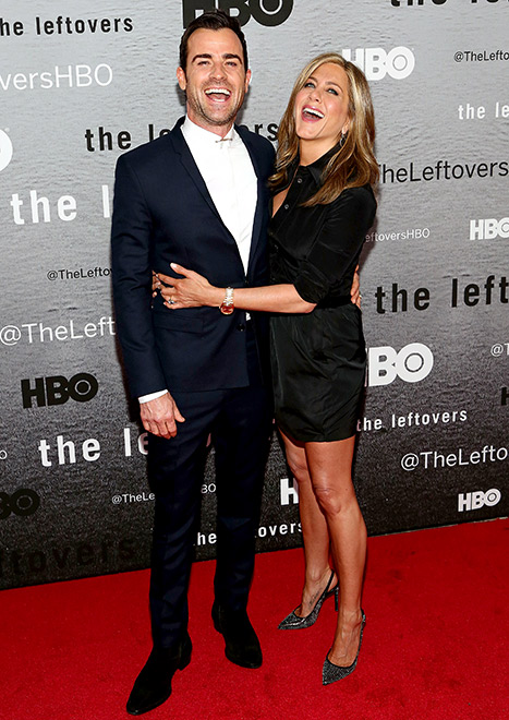 Theroux and Aniston at The Leftovers' NYC premiere in 2014