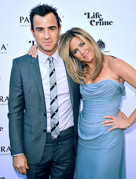 Theroux and Aniston at the 2013 Toronto International Film Festival