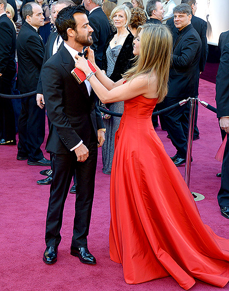 Theroux and Aniston rocked the red carpet at the 85th Annual Academy Awards