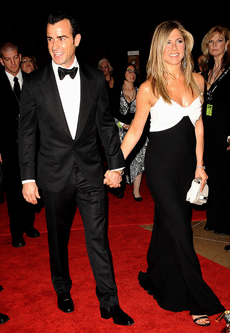 Theroux and Aniston attended the 27th Annual American Cinematheque Presentation in 2012