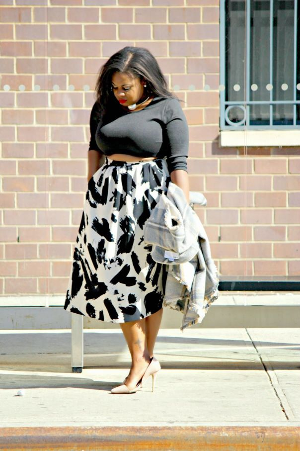 crop top plus size outfit