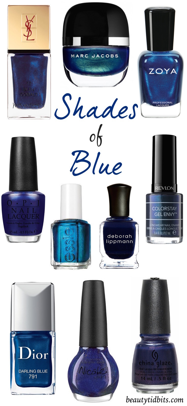 Best Navy blue nail polishes you have to try! via @beautytidbits