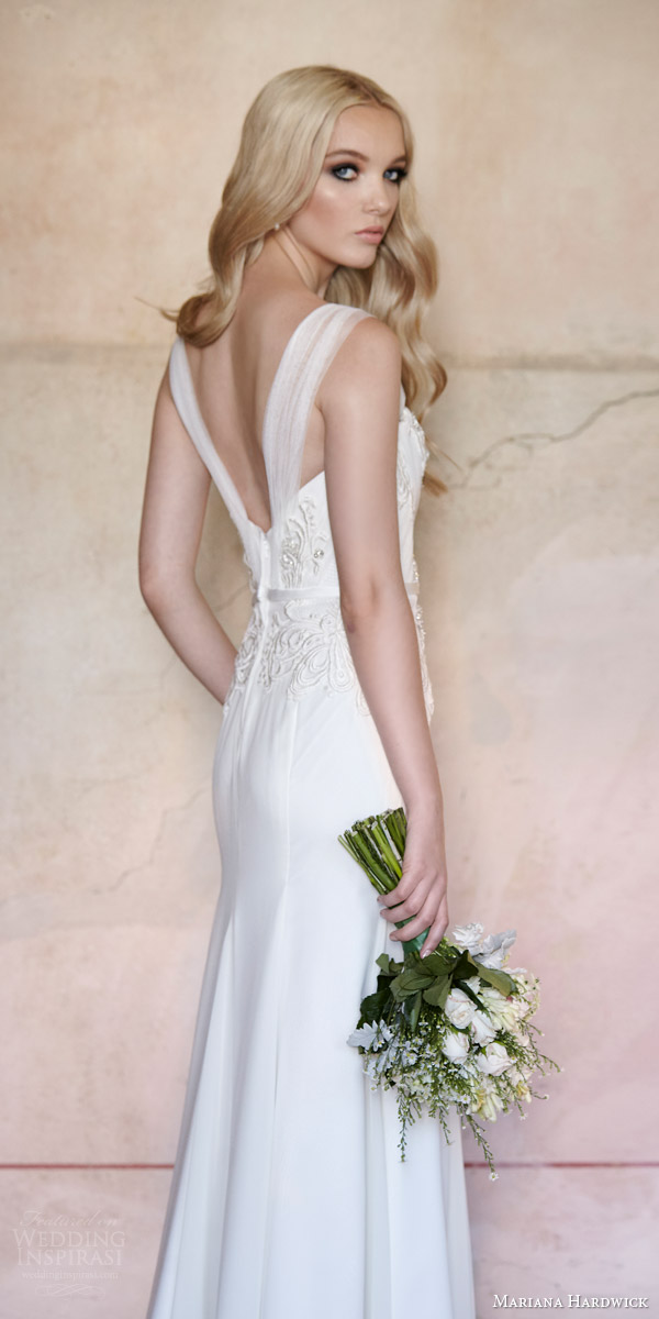 mariana hardwick bride 2015 antoinette strapless sweetheart neckline wedding dress villa parma back view tulle straps option