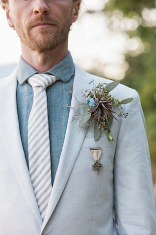Striped tie | Monashee Photography | see more on: http://burnettsboards.com/2015/08/bohemian-elopement/