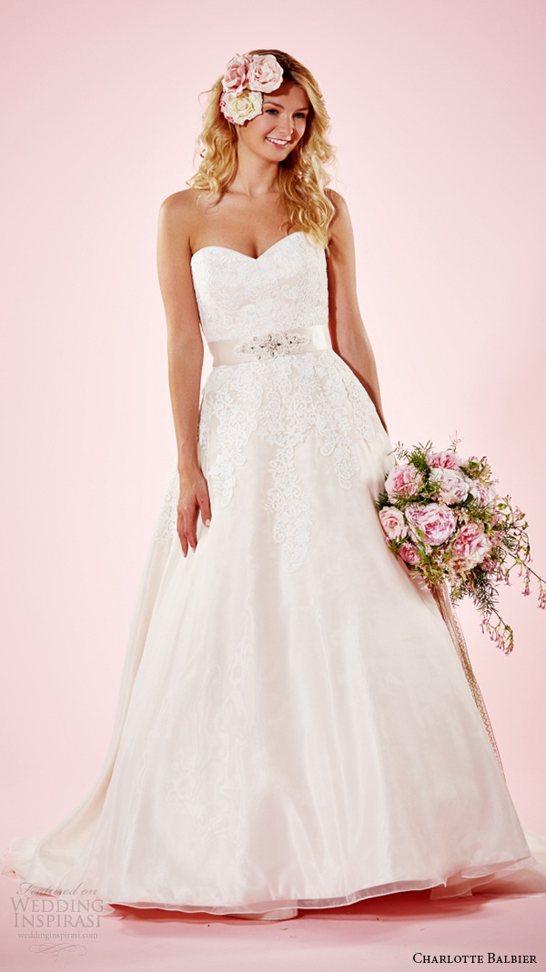charlotte balbier 2016 bridal dresses strapless sweetheart neckline lace bodice beautiful a line wedding gown heather