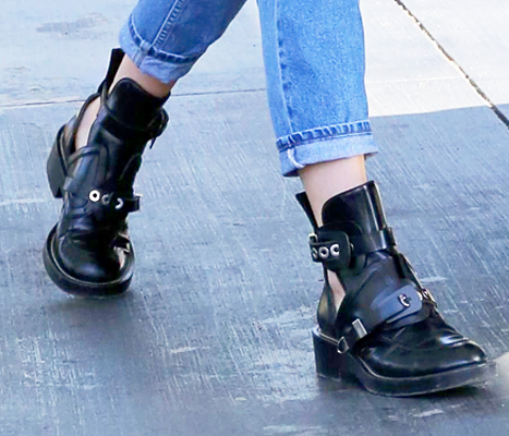 Kendall Jenner's $  1,300 gas-pumping boots are by Balenciaga (Thursday, July 30).