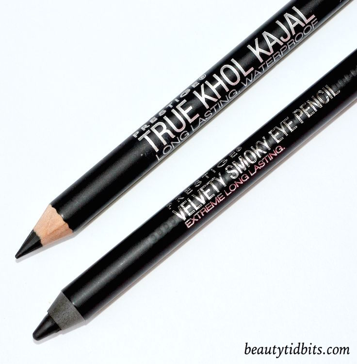 Prestige True Kohl Kajal and Velvety Smoky eye pencil