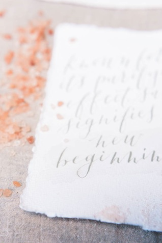 Calligraphy ⎪Elizabeth Fogarty Photography ⎪see more on: http://burnettsboards.com/2015/08/ethereal-virginia-wedding/