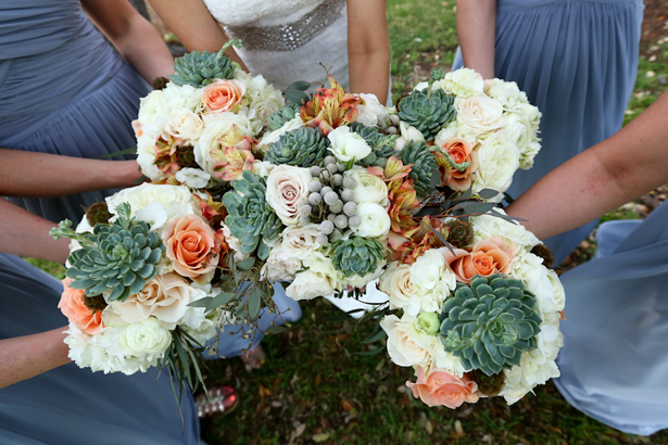 Wedding Bouquets with Succulents