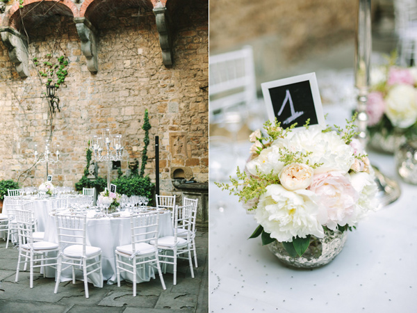 reception table - photo by Studio A+Q http://ruffledblog.com/destination-wedding-in-florence-at-vincigliata-castle