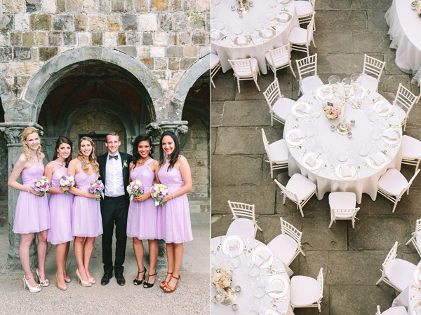 groom and bridesmaids - photo by Studio A+Q http://ruffledblog.com/destination-wedding-in-florence-at-vincigliata-castle