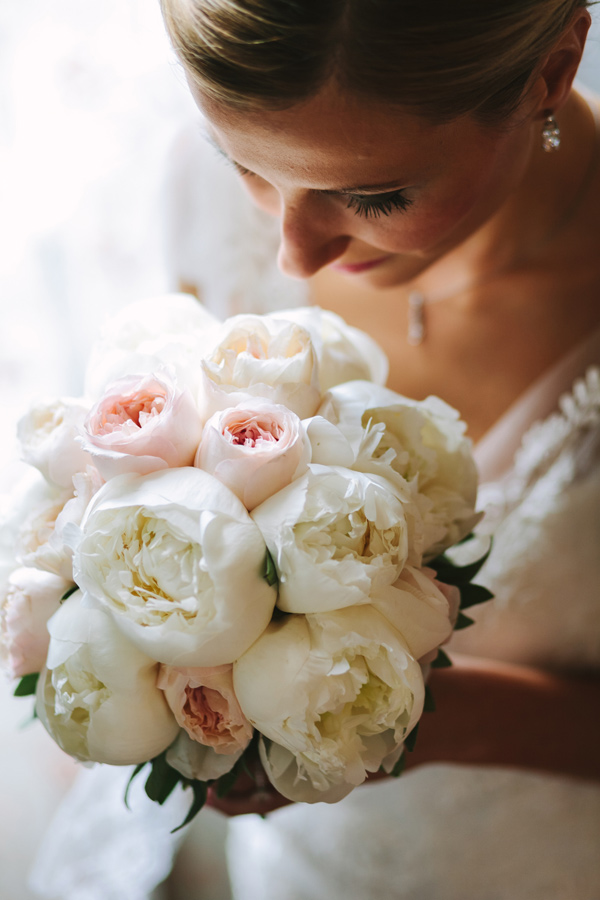 peony bouquet - photo by Studio A+Q http://ruffledblog.com/destination-wedding-in-florence-at-vincigliata-castle