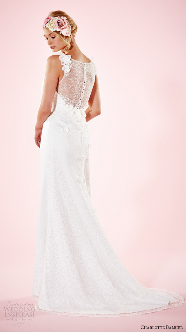 charlotte balbier 2016 bridal dresses floral strap sweetheart neckline beautiful wedding gown beth back
