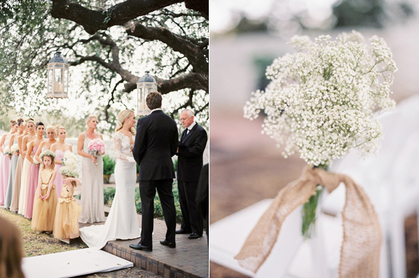 wedding ceremony - photo by Taylor Lord http://ruffledblog.com/spring-wedding-with-an-illusion-lace-gown