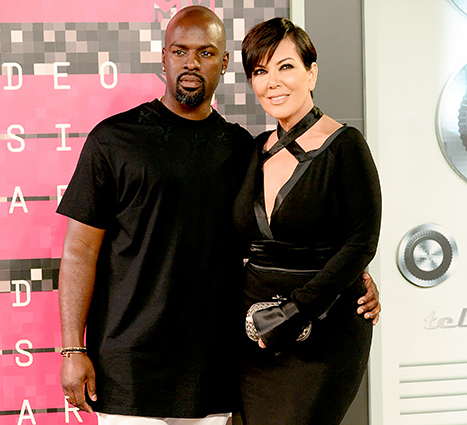 Corey Gamble and Kris Jenner attend the 2015 MTV Video Music Awards.