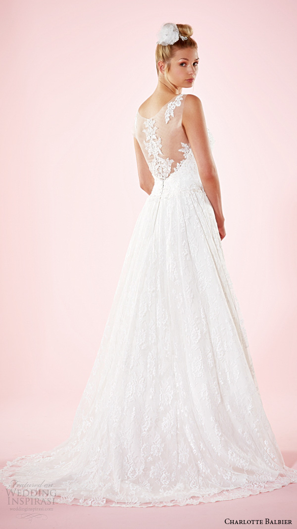 charlotte balbier 2016 bridal dresses floral lace strap semi sweetheart neckline romantic a line wedding gown aliona back