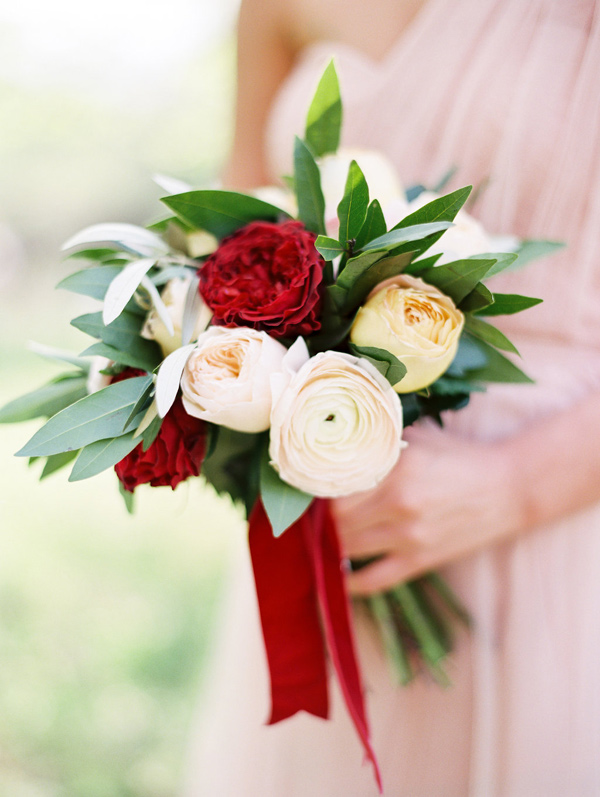 ranunculus bridesmaid bouquet - photo by Morning Light by Michelle Landreau http://ruffledblog.com/birth-of-venus-wedding-inspiration