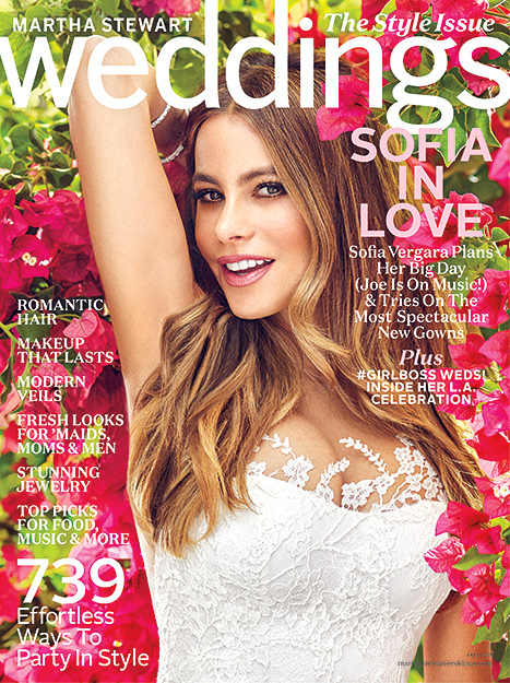 Sofia Vergara on the fall 2015 issue of Martha Stewart Weddings