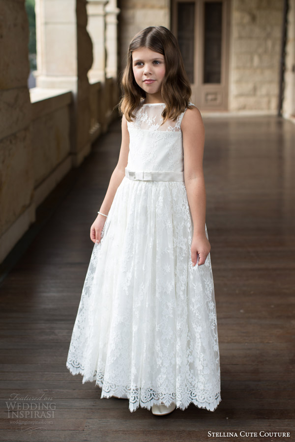 stellina cute couture 2015 2016 flower girl dresses lace dress for girls