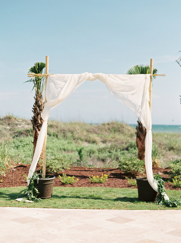 wedding ceremony arch - photo by Sawyer Baird http://ruffledblog.com/romantic-north-carolina-beach-wedding